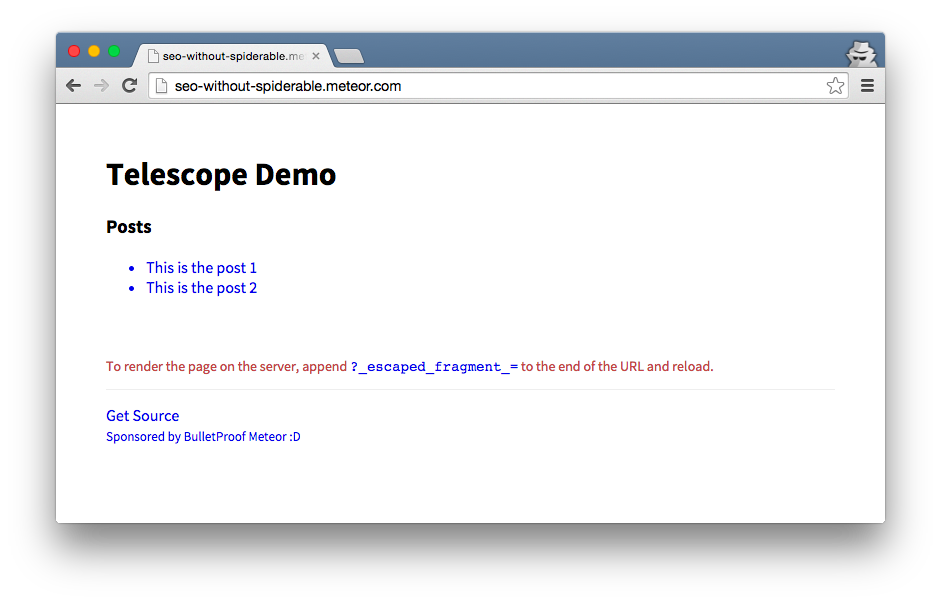 Demo App for Meteor SSR