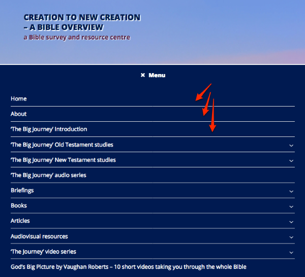 Creation to New Creation a Bible Overview a Bible survey and resource centre