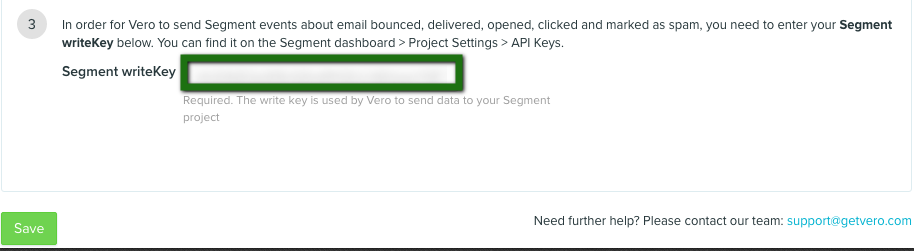Send email events from Vero