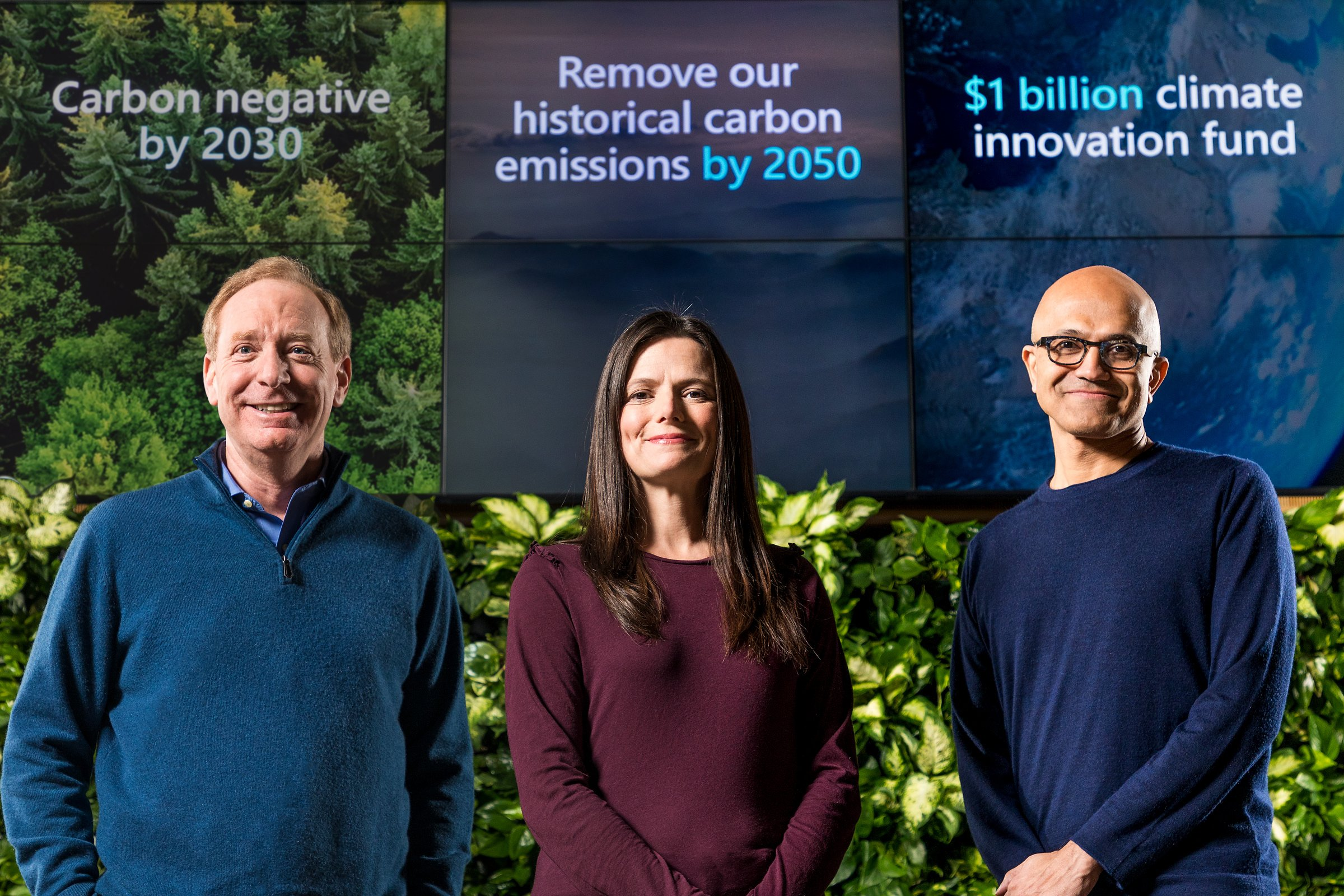 Microsoft President said company will be carbon negative by 2030