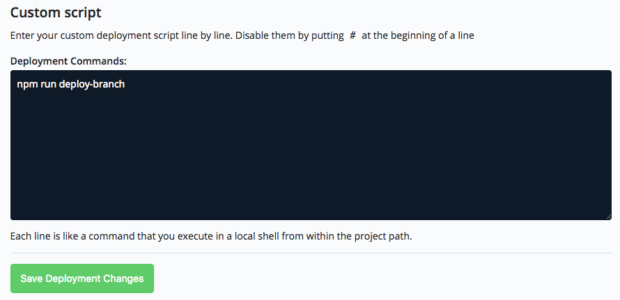 npm run deploy-branch