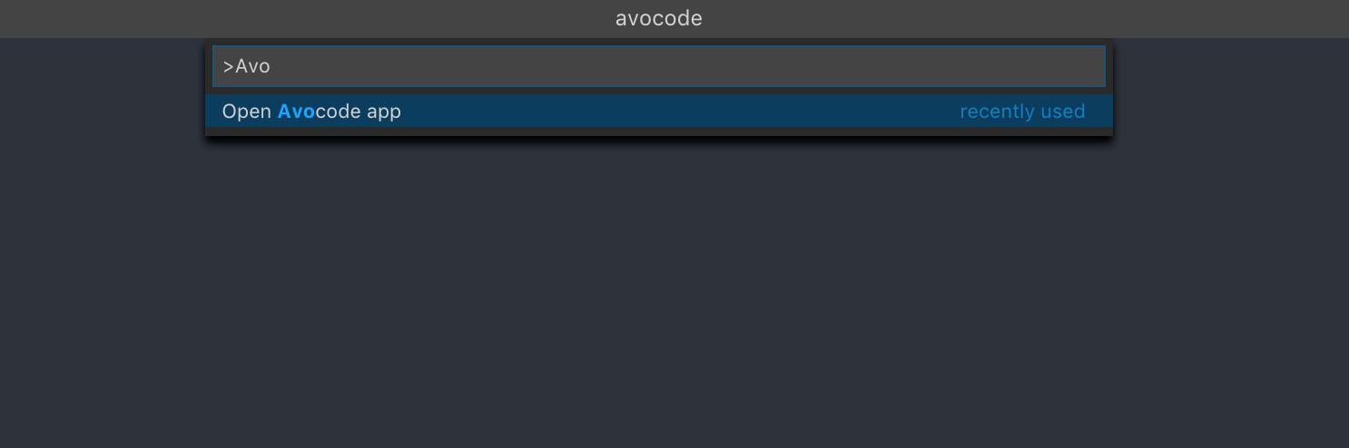 How to open Avocode in VSCode