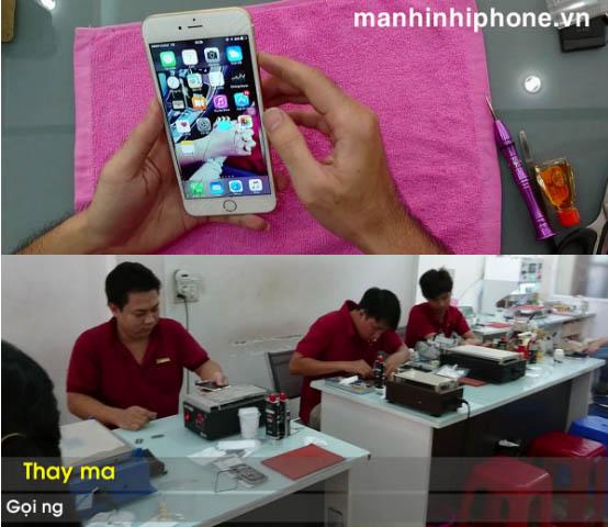 Kỹ thuật viên thay thế sửa chữa điện thoại Tín Sơn