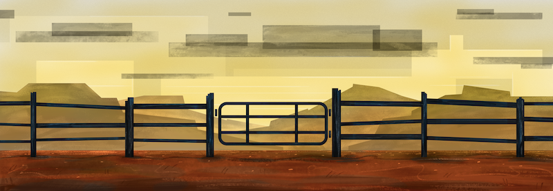 picture of fence with gate