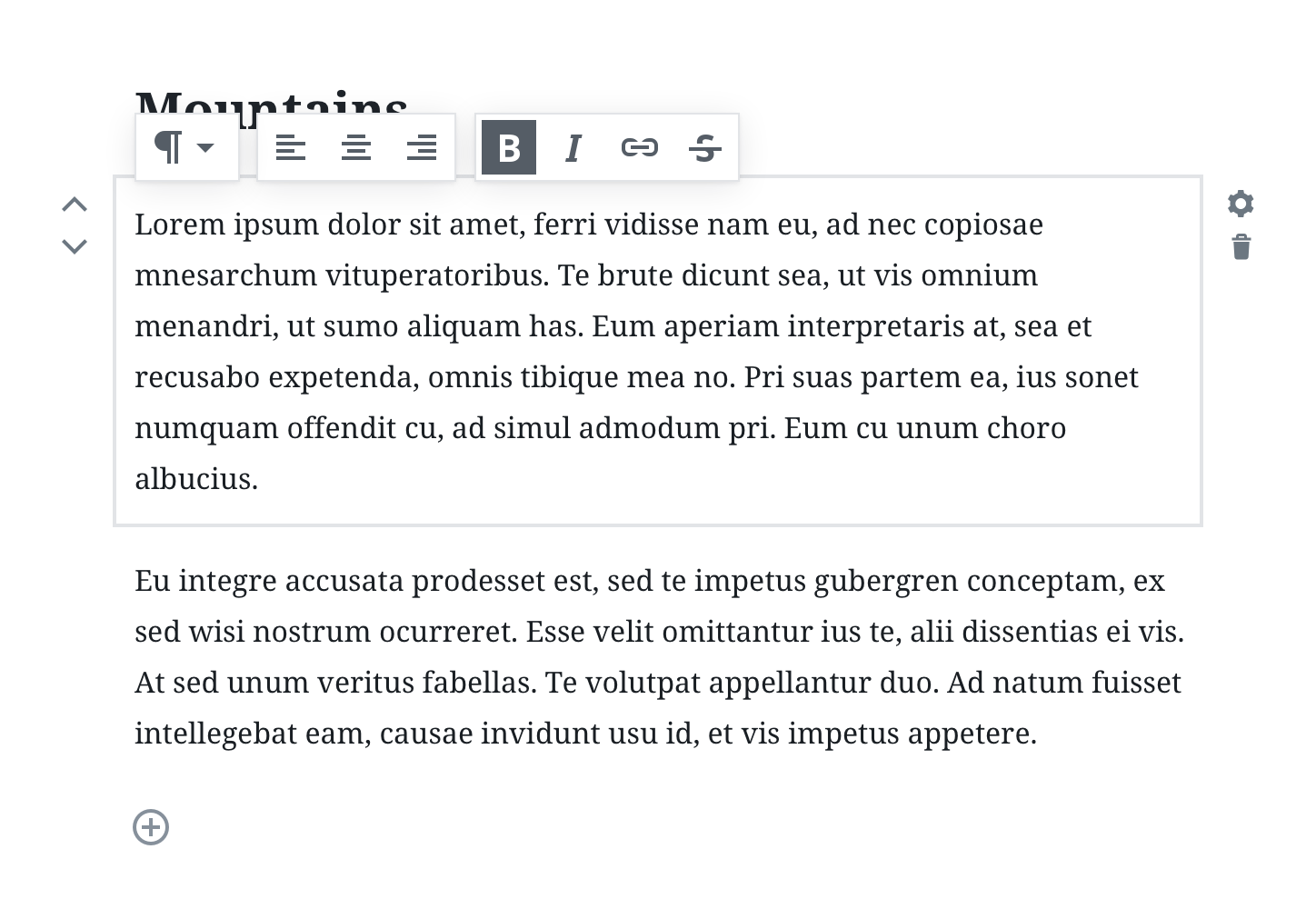 Design principles the new gutenberg editing experience wordpress this document will also go over how a good block should be designed malvernweather Gallery