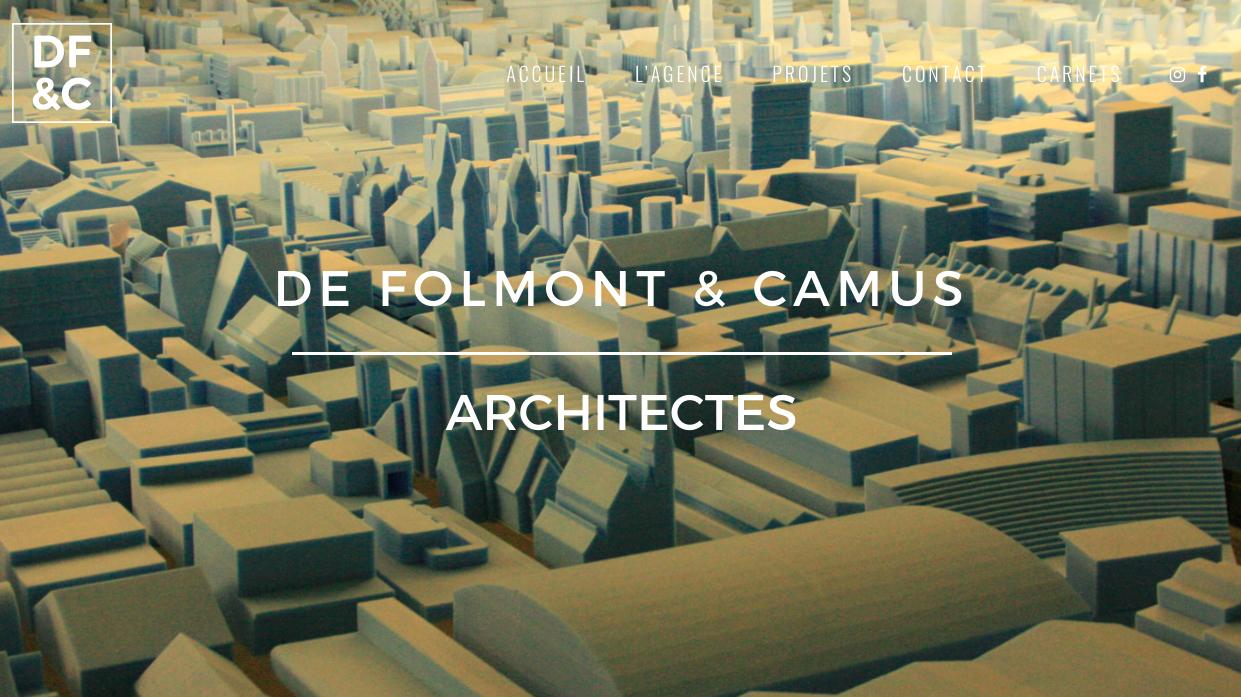 Site web de Folmont Camus