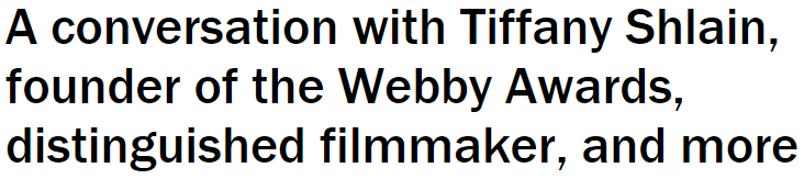 Tiffany Shlain separator