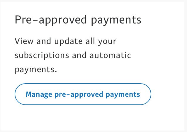 選 pre-approved payment