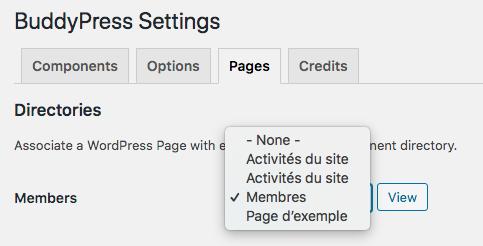 Page Association admin
