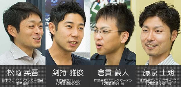 日本ブラインドサッカー協会インタビュー登場人物紹介