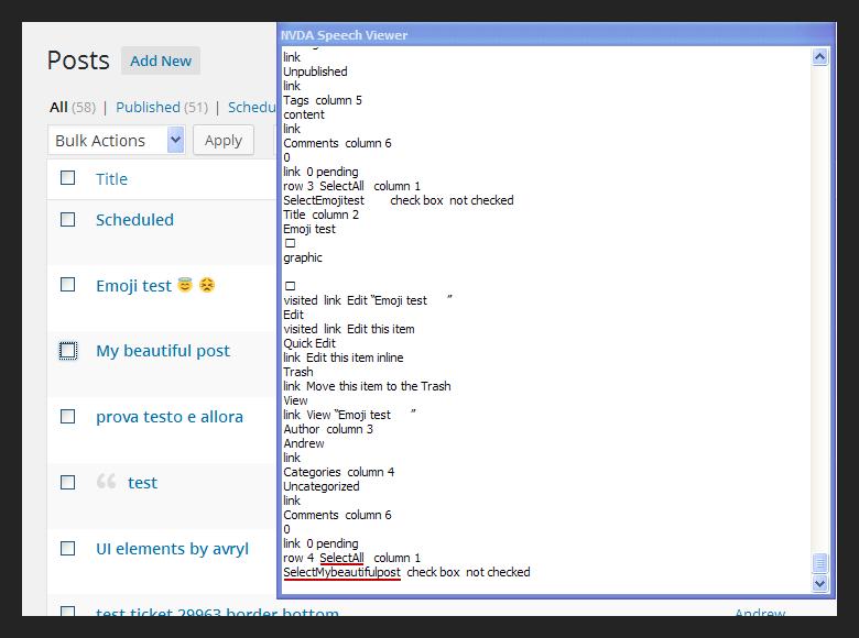 31962 (Screen reader text needs to reset word-wrap) – WordPress Trac
