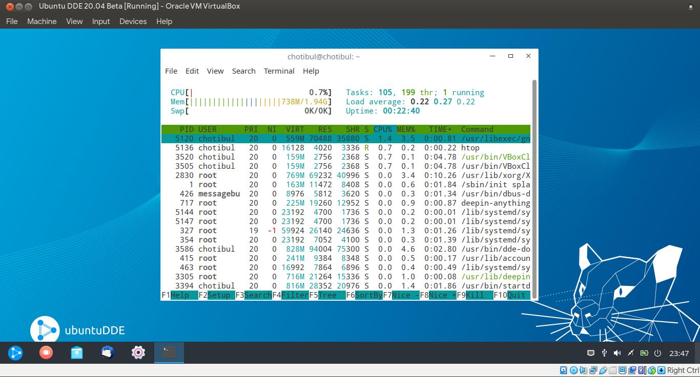 Monitoring ubuntuDDE