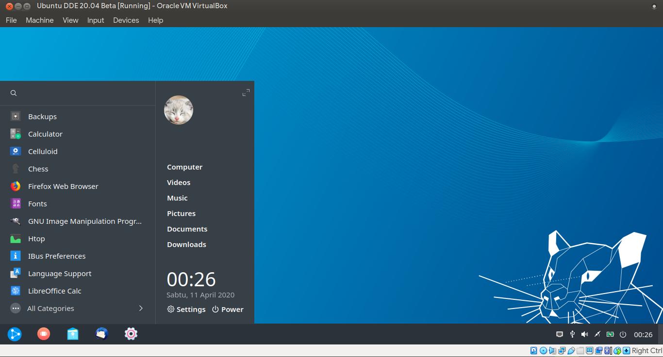 Kenalan Sama ubuntuDDE, Ubuntu x Deepin - Tampilan desktop