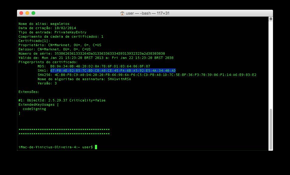Android Studio change SHA1 - Stack Overflow