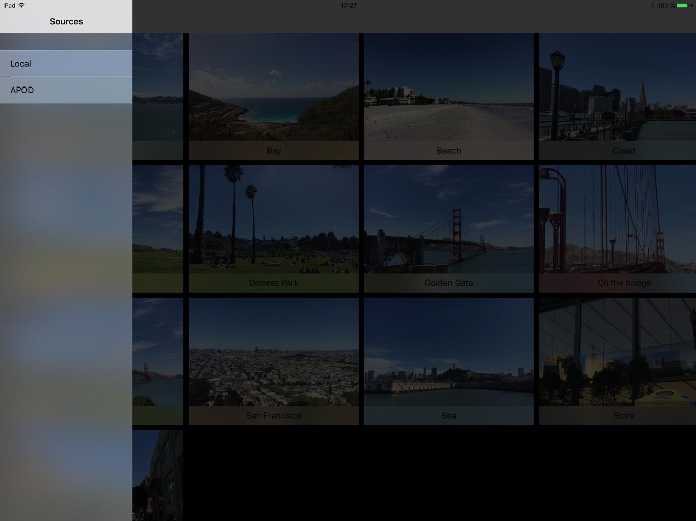 ViewDeck on iPad