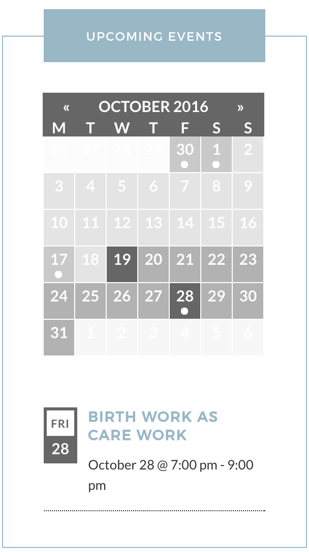 Date wrapping in sidebar | The Events Calendar