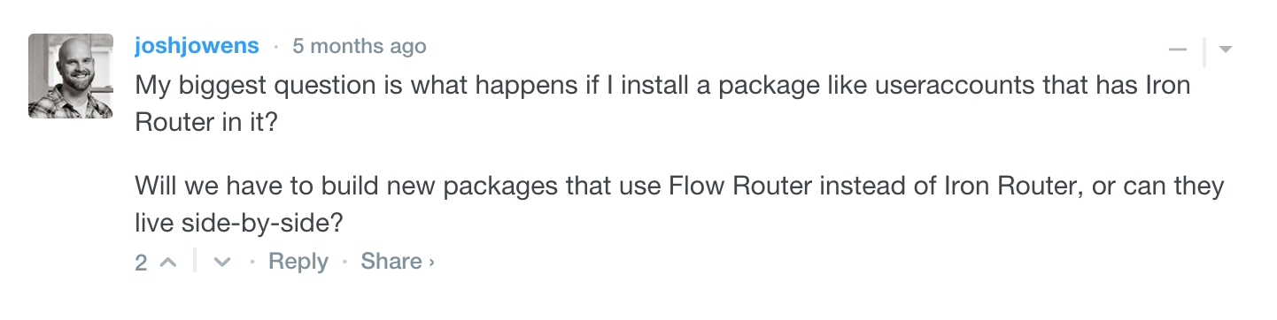 FlowRouter addon packages
