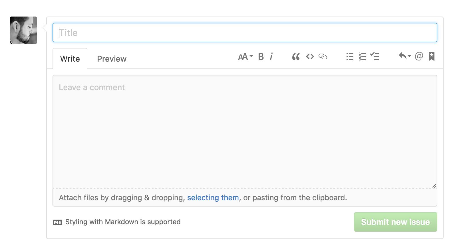 GitHub desktop - issues UI