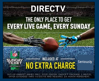 NFL Sunday Ticket info DirecTV