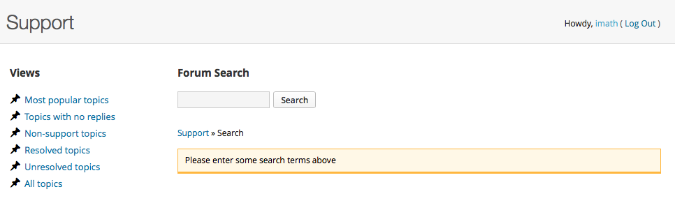 Le formulaire de recherche des forums support qui utilise Google search sur tous les contenus du réseau WordPress.org !!!