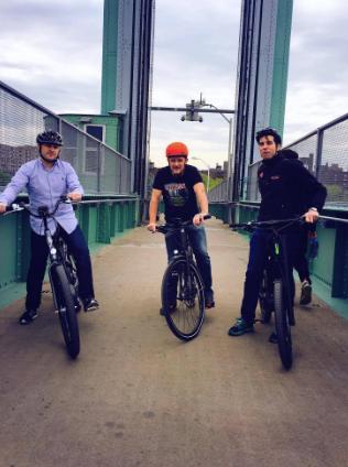 Geoff Golberg, Jonathan Weinert, Vin Nolan electric bikes in NYC