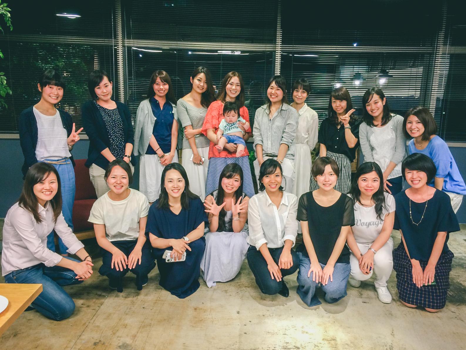 yenta女子会の集合写真