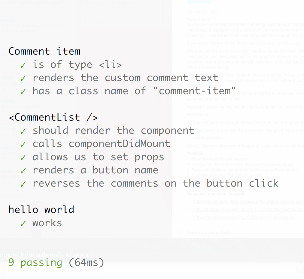Set up a testing environment with React + enzyme + Mocha