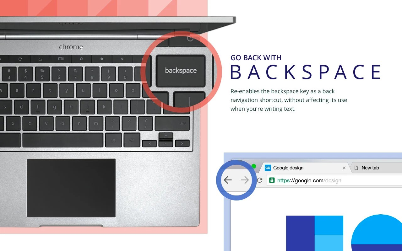 Google Backspace extension