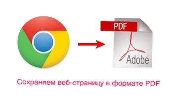 экспорт веб сайта из chrome в pdf