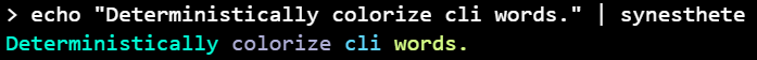 Deterministically colorize cli words.