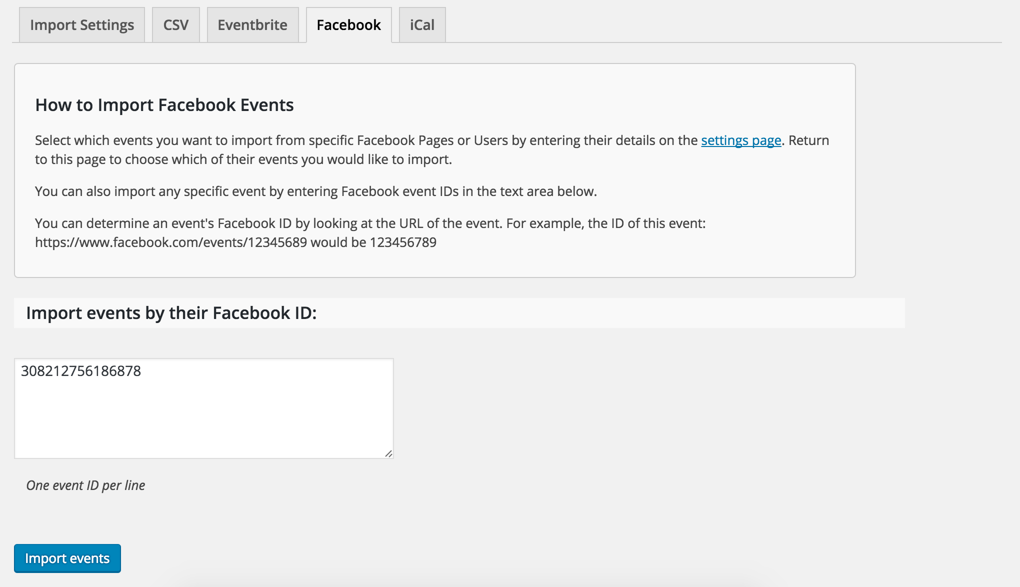 FB Events not importing location or organizer | The Events