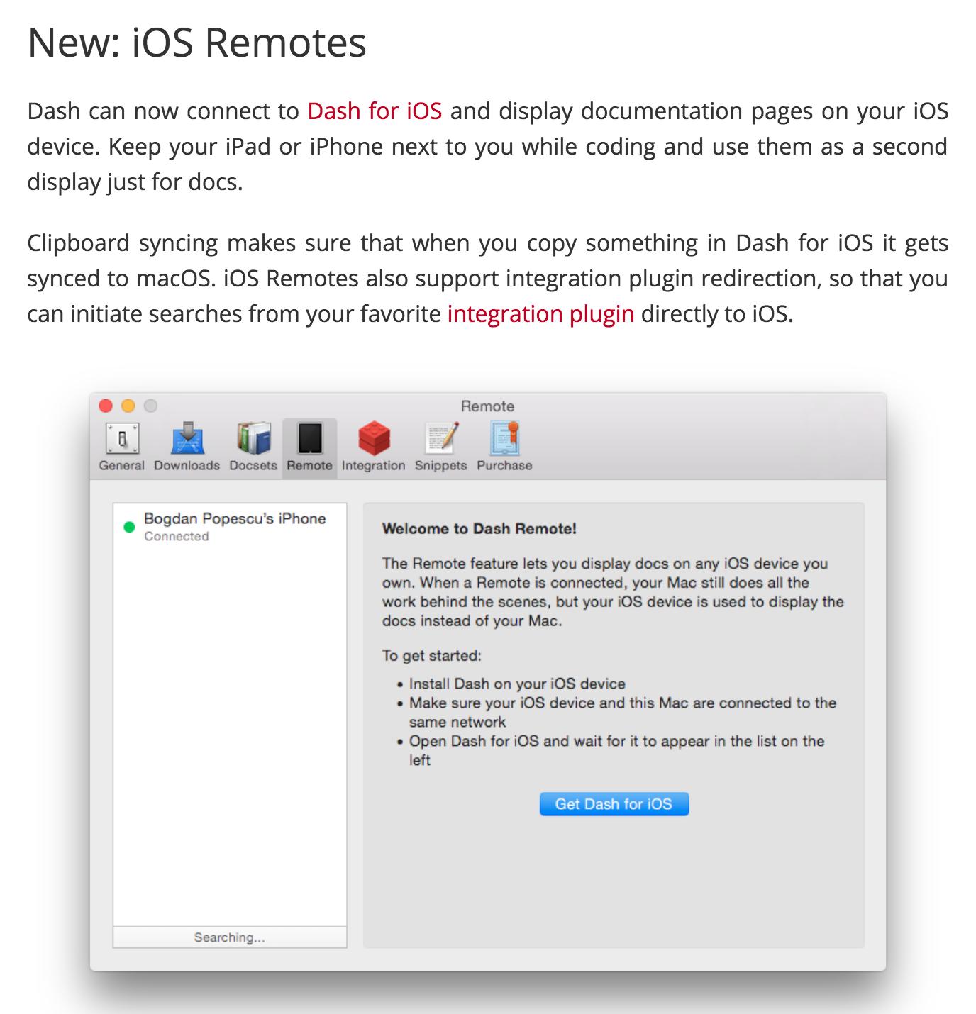 Dash Remote screenshot