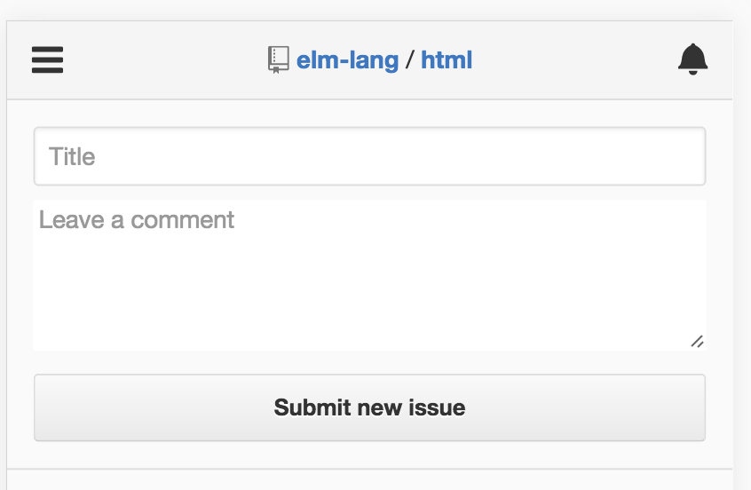 GitHub mobile - dumbed-down issues