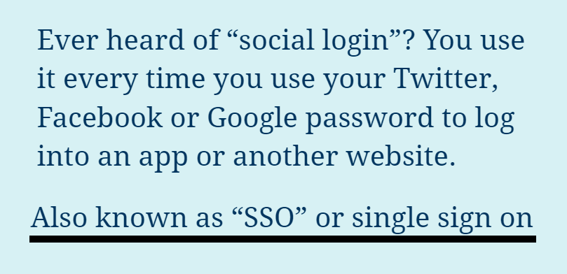 nomenclature when you use your social password to access another Whatis SSOsociallogin