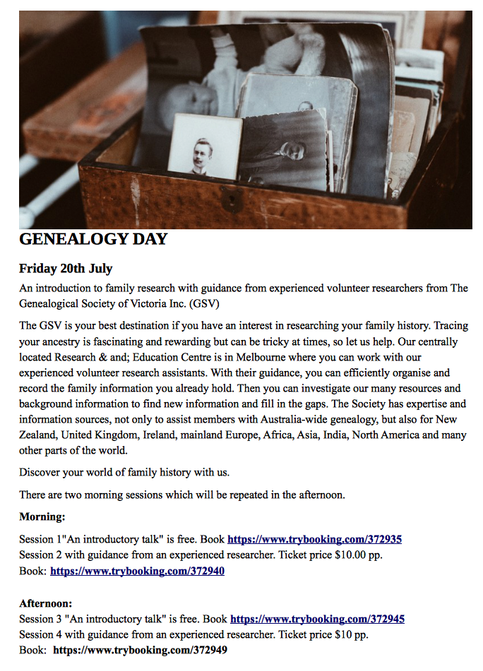 Geneology Day