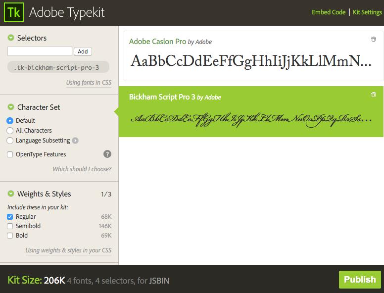 Typekit without OT