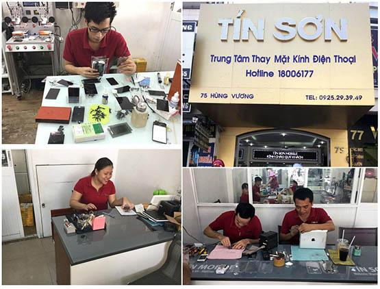 Tín Sơn mobile, Trung tâm thay mặt kính hàng đầu Việt Nam