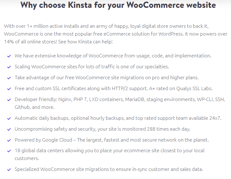 WooCommerce Hosting by Kinsta
