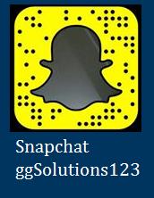snapchat @GGsolutions123