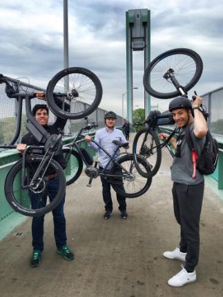 Geoff Golberg, Jonathan Weinert, Moe Saleh Bosch eBike tech field test