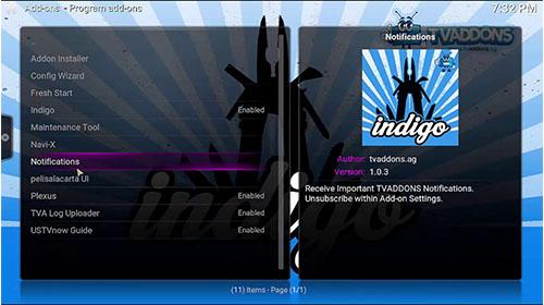 Build Indigo para kodi