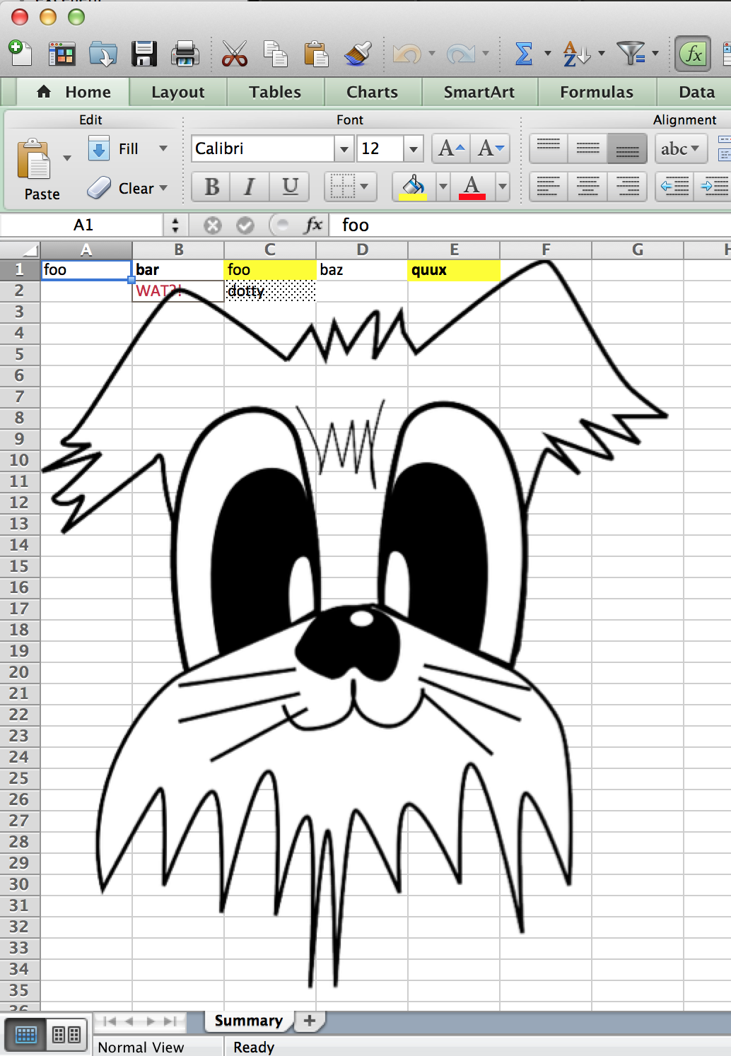 image of generated spreadsheet