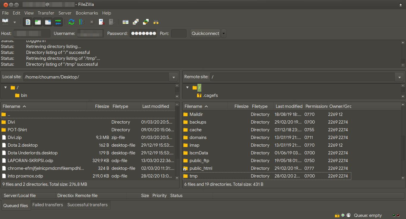 """WordPress 5.4 """"Adderley"""" Rilis Ayo Upgrade - Tampilan FileZilla"""