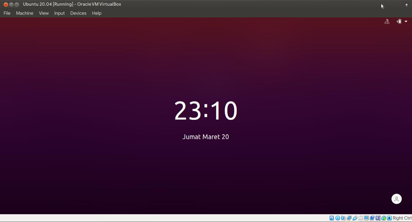 Tampilan kunci layar Ubuntu 20.04 (citra harian pasca UIF)