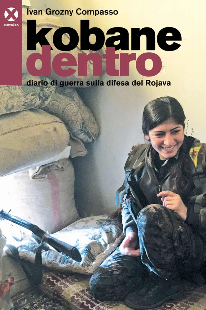 La copertina del libro Kobane dentro.