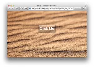 стеклянная кнопка с помощью css3