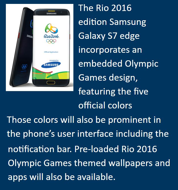 Samsung Olympic Galaxys7edge