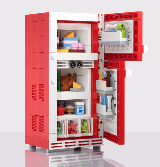 amazingly detailed lego refrigerator