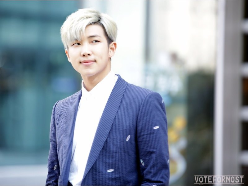 Kim Namjoon Most Handsome Man In The World 2017 Poll