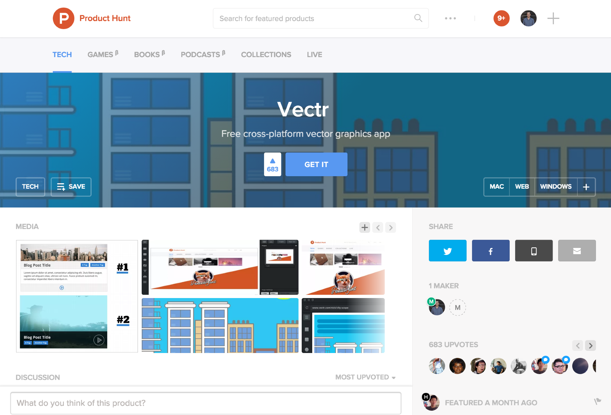 Vectr Product Hunt